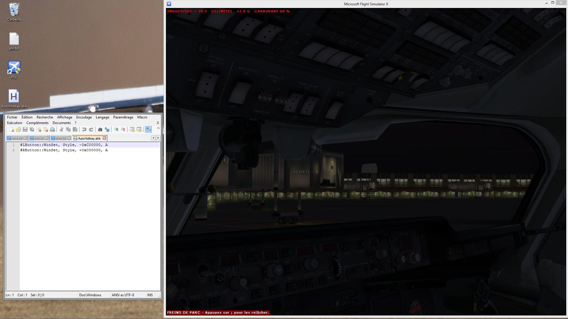 Pilote forum de simulation a rienne fsx for Fenetre hors ecran